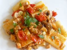 Gourmet Recipes, Pasta Recipes, Eggplant Pasta, Pasta Salad, Macaroni And Cheese, Catering, Food And Drink, Menu, Chicken