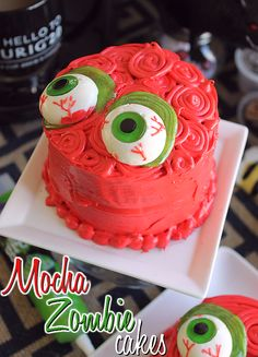 Mocha Zombie Mini Cakes and Simple Decorating Tips