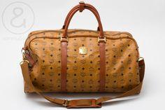 Image of MCM duffle Bag Cognac monogram :: Vintage Bags