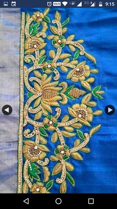 Best Blouse Designs, Saree Blouse Neck Designs, Bridal Blouse Designs, Sari Blouse, Kurti Embroidery Design, Embroidery Neck Designs, Zardosi Embroidery, Mirror Work Blouse Design, Aari Work Blouse