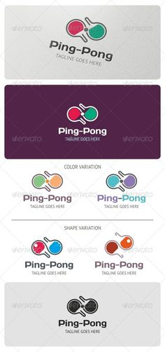Ping Pong Logo Template  — EPS Template #competition #sport #tennis • Click here…