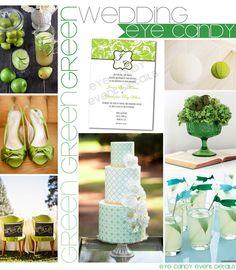 GREEN {Wedding} Inspiration board {Eye Candy Event Details} #greenwedding, #inspirationboard