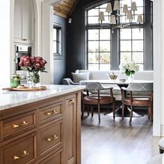 Home Interior Design .Home Interior Design Kitchen Nook, Kitchen Dining, Kitchen Decor, Kitchen Breakfast Nooks, Open Kitchen, Rustic Kitchen, Diy Kitchen, Dining Area, Dining Rooms