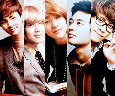 Shinee:  Taemin, Onew, Jonghyung, Minho and Key!