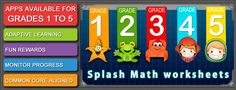 Splash Math - 2nd grade worksheets of Numbers, Addition, Subtraction, Time & 9 other chapters [HD Full] - Educational App | AppyMall