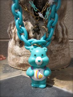 I Care Bear A Lot Necklace by StarfishStratagies on Etsy, $30.00