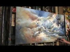 painting 'TURMOIL' Modern contemporary art Mix Lang How to DEMO - YouTube