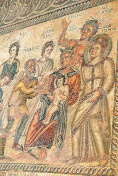 Born of Dionysos Roman mosaic - at the Paphos archaelogical park, Chypre Paphos, Ancient Rome, Ancient Greece, Life Of Christ, Greek History, Roman Art, Religious Art, Roman Empire, Fresco