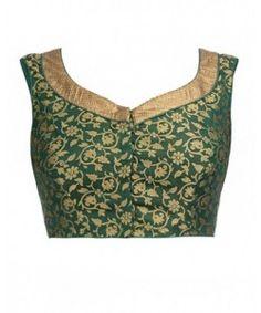 Kmozi new Arrival Green Color Brocade Blouse..  http://www.kmozi.com/designer-blouse/designer-saree-blouse/kmozi-new-arrival-green-color-brocade-blouse-409