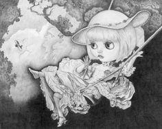 Blythe on a Swing - by Thomas DePorter (Friend2Blythe)