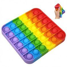 Pop it - Joc senzorial Categorie: Jocuri Pur și simplu apasă toate bulele, ele vor scoate un sunet plăcut, apoi întoarce jocul și ia-o de la capăt! Este potrivit pentru orice vârstă și poate fi utilizat în diverse scopuri: activitate… Sensory Toys For Autism, Sensory Tools, Figet Toys, Kids Toys, Cool Fidget Toys, Pop Bubble, Bubble Wrap, Stress Relief Toys, Adult Children