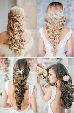 ccbd0d6abcf9683cbe9f979f61a806b7 588x900 Down Wedding Hair Style wedding hair make up photo