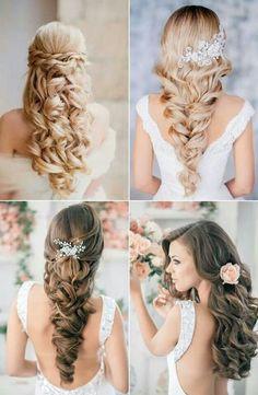 ccbd0d6abcf9683cbe9f979f61a806b7 588x900 Down Wedding Hair Style wedding hair make up photo