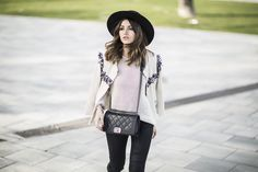 I'm Ready - Alexandra wearing The Extreme Collection Jacket, Gas Jeans, Asos Shoes, Anine Bing Sweater and Chanel Boy Bag.