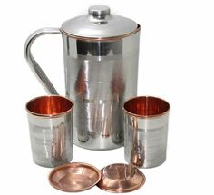 Pure Copper Water Drinking Glass Tumbler Shiny Finish For Ayurvedic Health 300ML