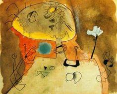 'Mujer con Kragen', gravieren von Joan Miro (1893-1983, Spain)