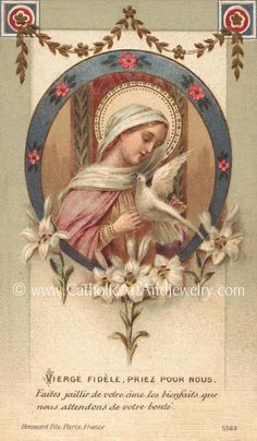 Catholic Gifts, Catholic Art, Religious Art, Blessed Mother Mary, Blessed Virgin Mary, Pape Jean Paul Ii, Immaculée Conception, Image Jesus, Vintage Holy Cards