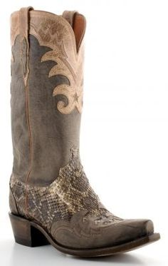 Mens Western Rattlesnake cowboy boots by Lucchese (via @Allens Boots)