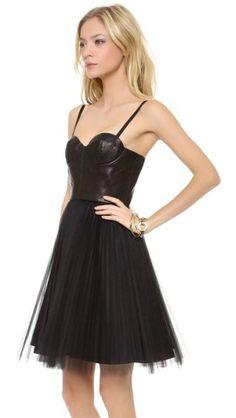 Leather Bustier Dress
