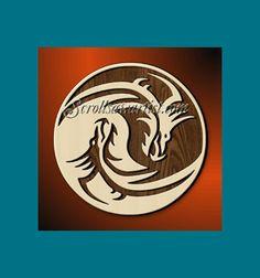 Scroll Saw Patterns :: Mythical :: Dragons Scroll Pattern, Scroll Saw Patterns, Wood Patterns, Metal Art, Wood Art, Yen Yang, Fret Saw, Pot Pourri, Saw Wood
