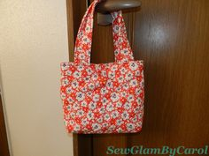 """Toddler Bag. Details: Approx. 7 1/2 """" height X 9 1/2 width. 100% cotton, fabric made in japan. This is already sold but can make a new one if someone is interested."""