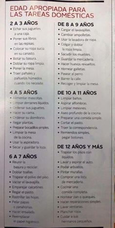 Authentic reading for Spanish any level: quehaceres de la casa, chores