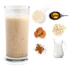 50 Best Protein Shake And Smoothie Recipes Tired of drinking the same boring, bland tasting proteins shakes? Try these superb shakes and mix things up with fresh ingredients and a variety of supplements. Oatmeal Protein Shake, Best Protein Shakes, Protein Smoothie Recipes, Healthy Smoothies, Whey Protein, Protein Power, Healthy Breakfasts, Fruit Smoothies, Healthy Snacks
