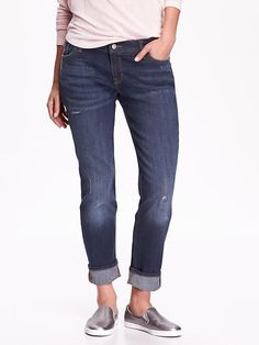 Women's Boyfriend Straight-Fit Jeans