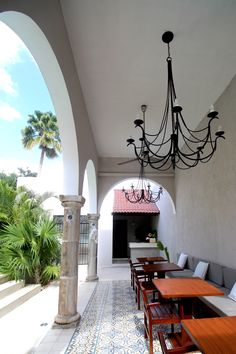 The Terrace & Palm Tree   The Diplomat Boutique Hotel #Merida #Mexico…
