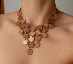 25 Cent Triangle Penny Necklace by ampandolph on Etsy