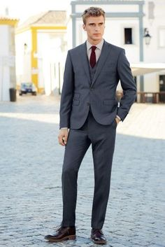 Buy Blue Flannel Suit: Jacket from the Next UK online shop