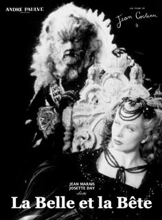 """472. """"La belle et la bête"""" de  Jean Cocteau avec Jean Marais et Josette Day. 1946"""