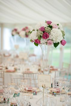 Soft table setting for Wedding