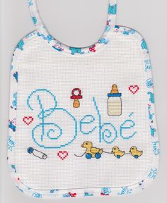 CaSuLo by CarlaSB: Bébé Cute Embroidery Patterns, Hand Embroidery Stitches, Cross Stitch Embroidery, Cross Stitch Baby, Cross Stitch Animals, Cross Stitch Designs, Cross Stitch Patterns, Palestinian Embroidery, Cross Stitching