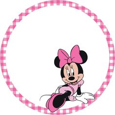 Minnie Pink Squares Free Party Printables and Boxes.