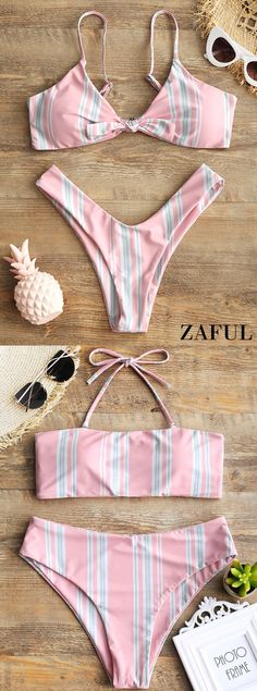 Up to 80% OFF! Striped Knotted Bra And High Cut Swim Briefs. #Zaful #Swimwear #Bikinis zaful,zaful outfits,zaful dresses,spring outfits,summer dresses,easter,super bowl,st patrick's day,cute,casual,fashion,style,bathing suit,swimsuits,one pieces,swimwear,bikini set,bikini,one piece swimwear,beach outfit,swimwear cover ups,high waisted swimsuit,tankini,high cut one piece swimsuit,high waisted swimsuit,swimwear modest,swimsuit modest,cover ups @zaful Extra 10% OFF Code:ZF2017