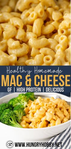 Simple, rich and creamy healthy homemade mac and cheese that's just as flavorful as the one from your childhood, but just a bit better for you! Home Made Mac And Cheese Recipe, Homemade Mac And Cheese Recipe Easy, Healthy Mac N Cheese Recipe, Quinoa Mac And Cheese, Spinach Mac And Cheese, Easy Mac And Cheese, Healthy Dinner Recipes, Gluten Free Mac And Cheese Recipe, Lunch Recipes
