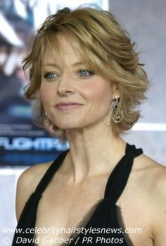 Jodie Foster Has A Long Layered Shaggy Type Haircut With All Hair Design 302x448 Pixel