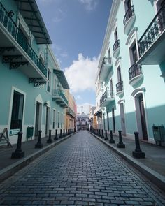 My most romantic city in the world with blue brick streets ~ Puerto Rico #Infinite Possibilities Project Day 5 ... I am there!