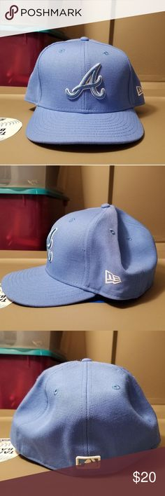 85be170ab8516 Braves New Era 5950 Electric Blue This is an electric blue Braves cap.  Literally all