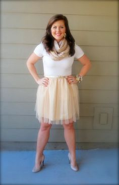 The Heathered Life: Go for the Gold, Gold & Tulle Skirt