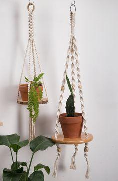 Drop Ceiling Tiles, Ceiling Hanging, Macrame Supplies, Macrame Projects, House Plants Decor, Plant Decor, Large Planters, Hanging Planters, Macrame Plant Hanger Patterns