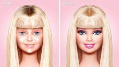 I think I just saw Ken running away: Barbie without make-up, April 2013.