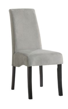 """SIX IN STOCK - Station Grey Dining Chairs: 25.25""""L x 17.5""""W x 40""""H- Rent: $14; Buy: $99"""