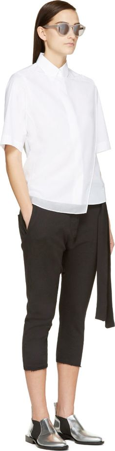 Mm6 Maison Margiela: Black Tie Lounge Pants