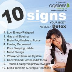 HOW CAN YOU TELL IF YOU NEED A FULL BODY #DETOX? Your body will communicate with you when it's in need of a detox, you just have to be able to read the signs it gives you.