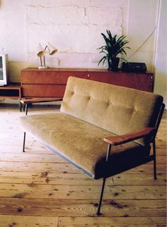 Light brown 2-seater