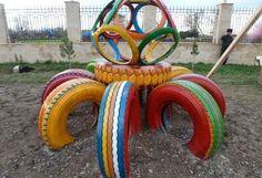A Arte de Ensinar e Aprender: Brinquedos feitos com pneus                                                                                                                                                                                 Mais