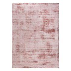 Tapis en viscose rose poudré (plusieurs tailles disponibles)