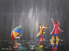PETE RUMNEY FINE ART MODERN ACRYLIC OIL ORIGINAL PAINTING FUN COLOURFUL CANVAS in Art, Artists (Self-Representing), Paintings | eBay
